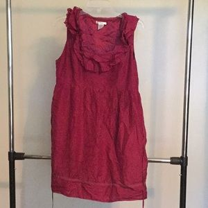 Wine Colored Sleeveless Dress